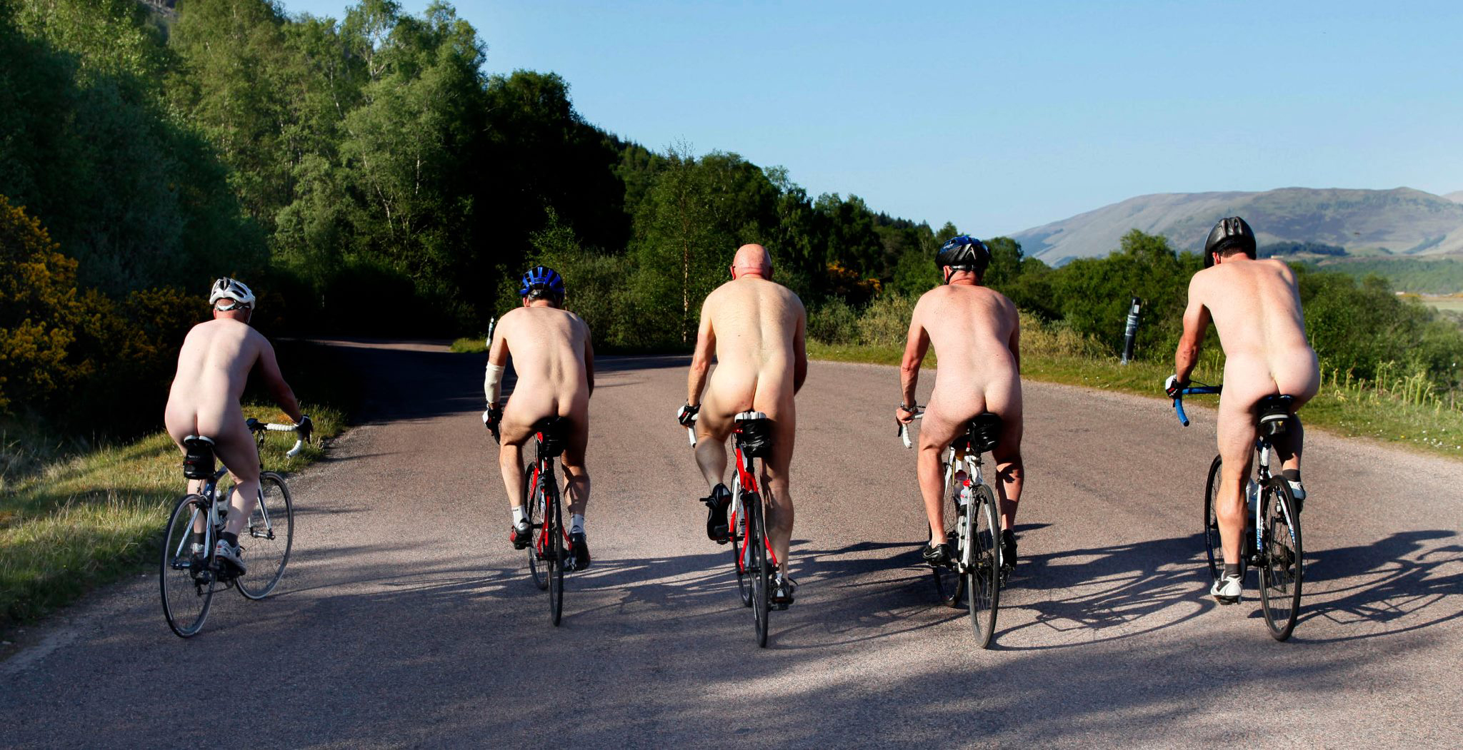 The wheresyourbike charity challenge – fat bottomed men with boobs on bicycles