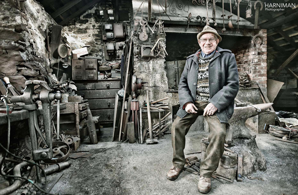 Portrait Village blacksmith, Wales