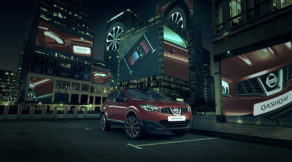 How to park a Nissan Qashqai amid the glass towers of Canary Wharf