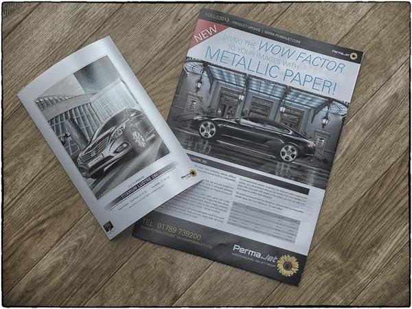 PermaJet Titanium Lustre 280 featuring my Jaguar XF and Hyundai Grandeur images