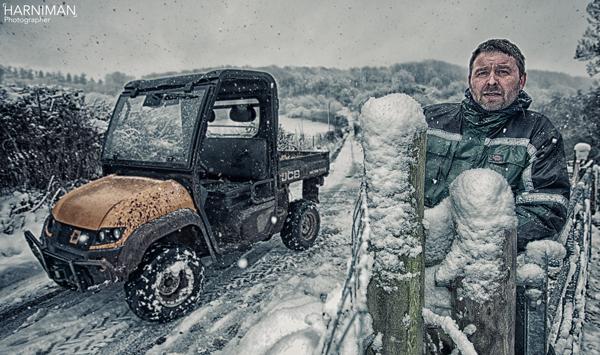 JCB snow portrait