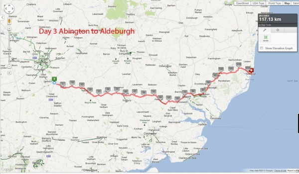 Day 3 - Abington to Aldeburgh