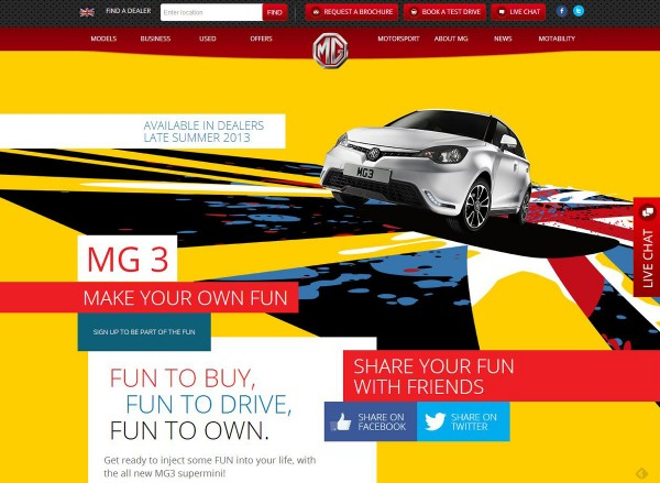 MG website