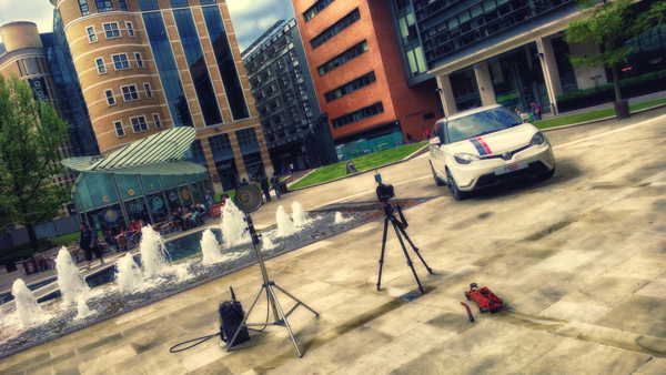 MG3 Location Photo Shoot, behind the scenes