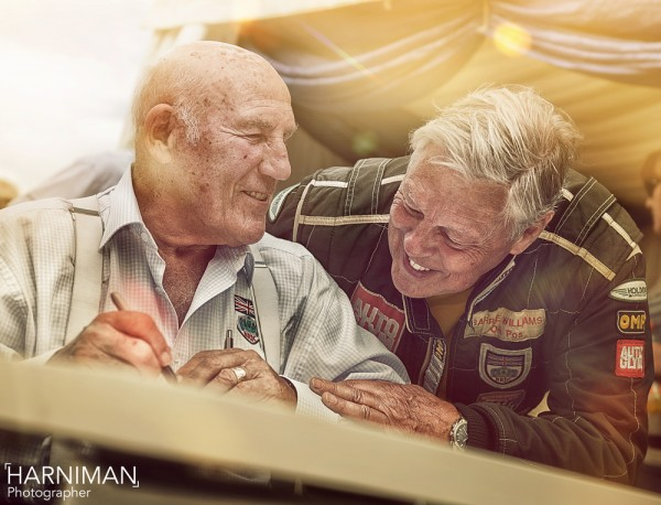Sir Stirling Moss & Barrie Whizzo Williams sharing a laugh
