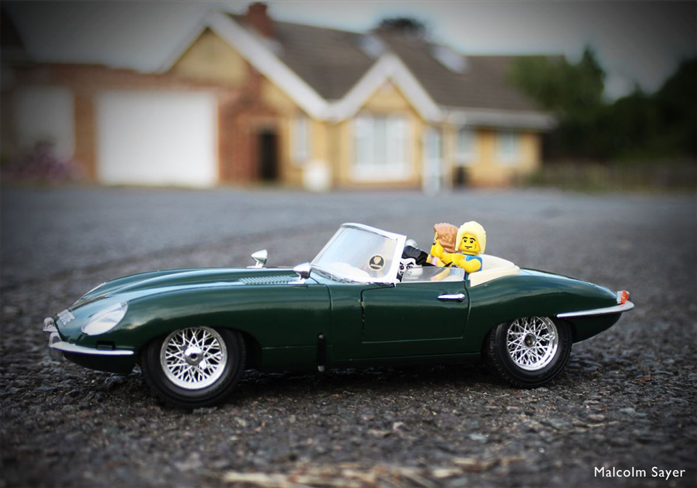 Jaguar E-Type Winner of Money Super Market #Photayourmota Competition