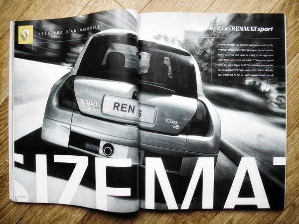Renault Clio V6, UK DPS Press Ad