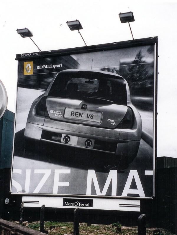 Renault Clio V6, billboard UK