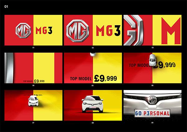 MG3 TVC storyboard
