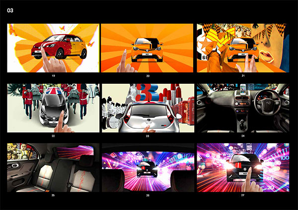 MG3 TVC storyboard
