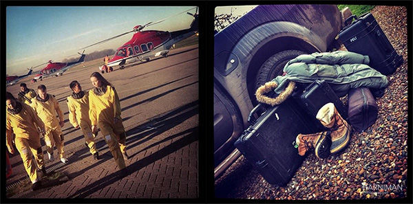 harniman photographer north sea shoot helicopters