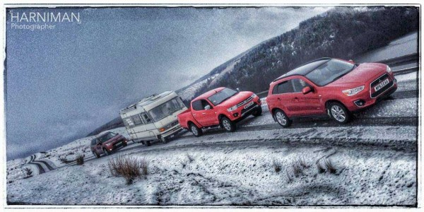 The Mitsubishi Convoy & the RV battle the elements!