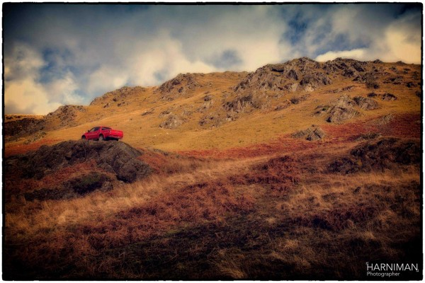 The L200 in one of the stunning landscapes