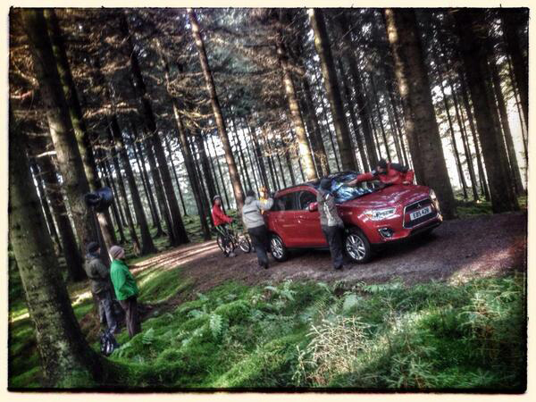 Mitsubishi ASX BTS in the forest