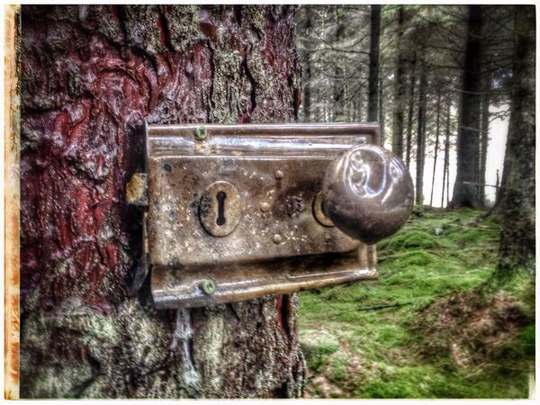 Mitsubishi ASX BTS - amazing what you come across on location...the door to Narnia?