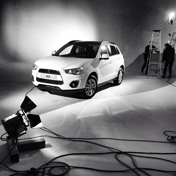 Mitsubishi ASX BTS - sanctuary from the elements in the studio!
