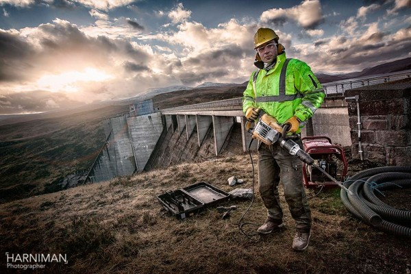 Final ad image from the dam shoot in the Cairngorms Scotland