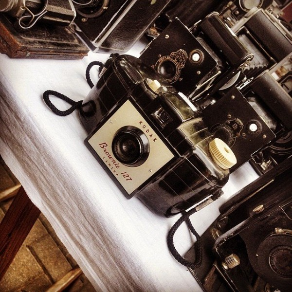 Flea market find - an old Kodak Brownie 127 camera