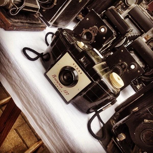 Flea market find - an old Kodak Brownie 127 camera