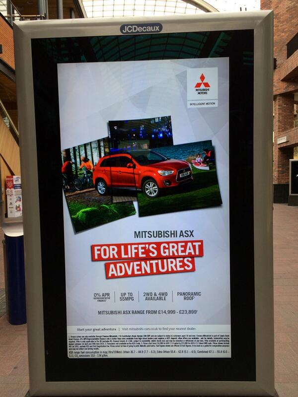 Mitsubishi outdoor ASX ad - spotted in Cabot Square London