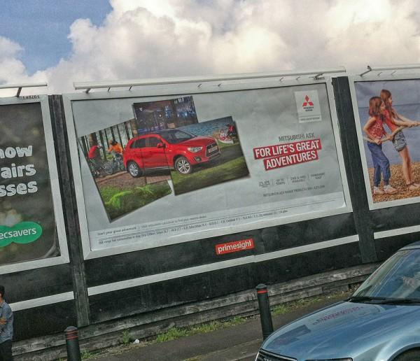 Mitsubishi ASX 48 sheet outdoor ad