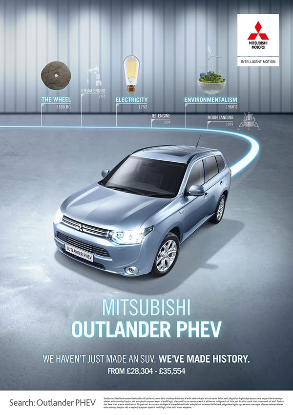 Mitsubishi Outlander PHEV press ad