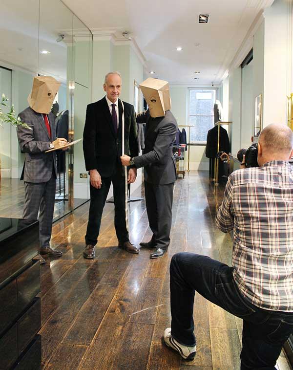 Shooting Richard James of Savile Row London for BMW