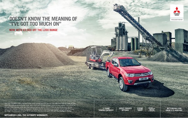 Mitsubishi L200 Towing press ad