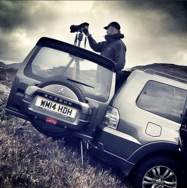 Mitsubishi Shogun press ad  location shoot