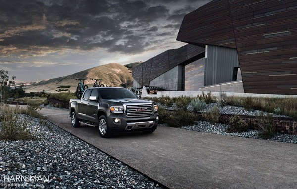 GMC 2015 Canyon in one of the less remote locations.