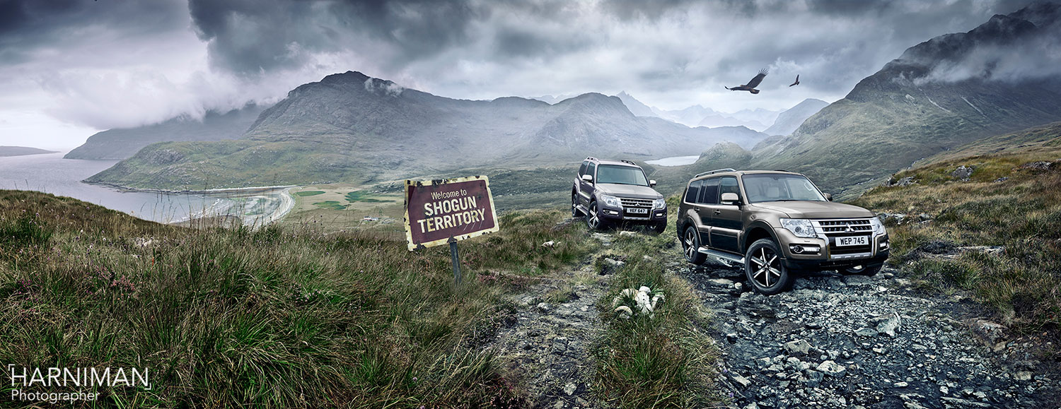 A Remote Location for the Mitsubishi Shogun is Isles Away