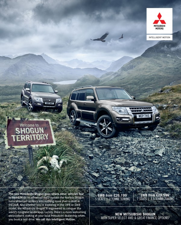 Mitsubishi Shogun press ad