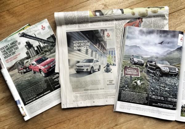 Current Mitsubishi press ads