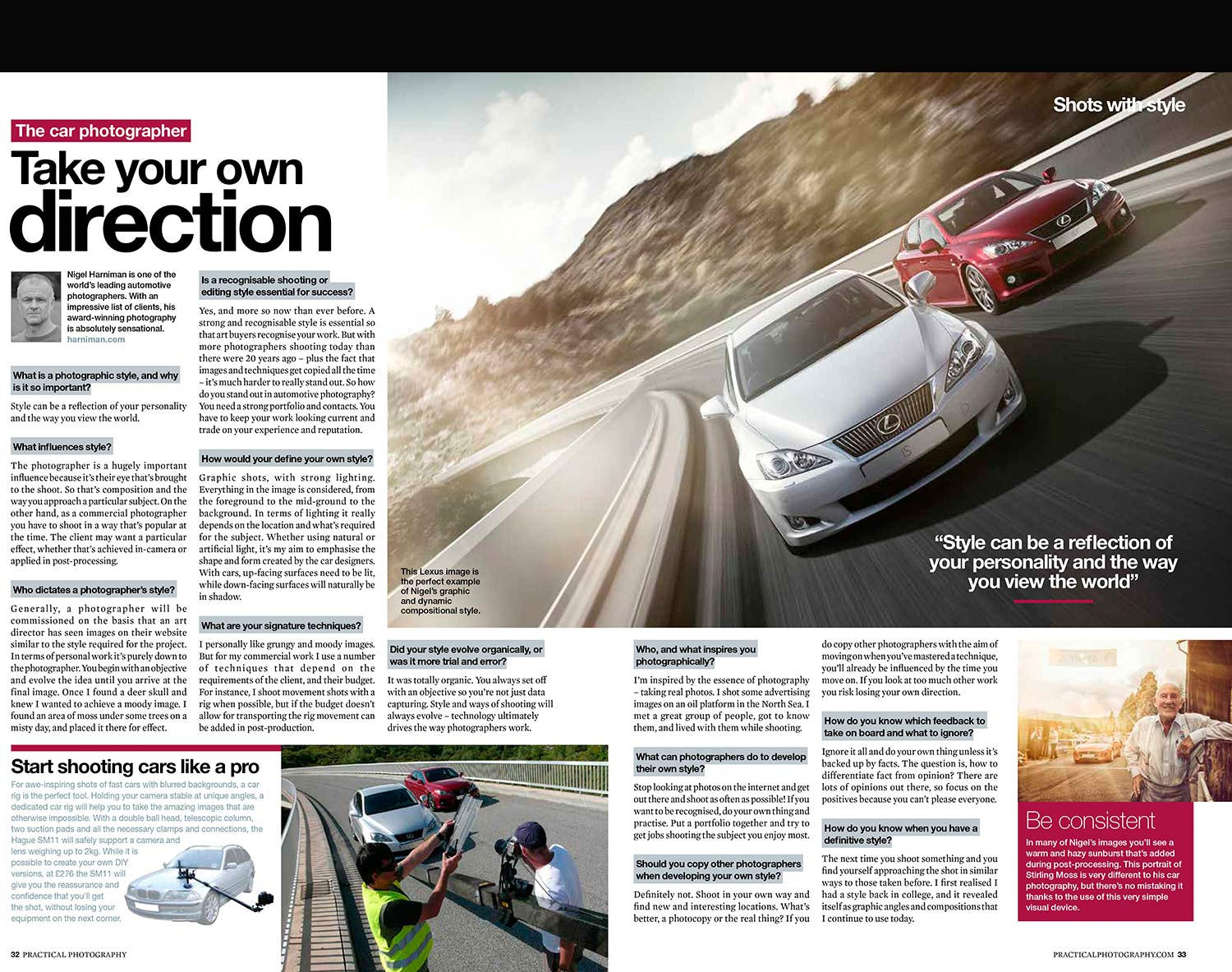 'Take Your Own Direction' – magazine interview