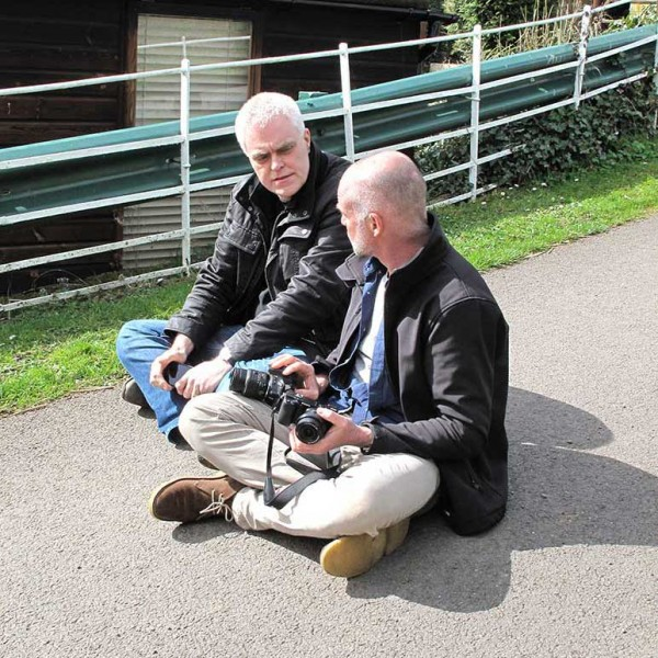The gnomes of Shelsley Walsh compare cameras