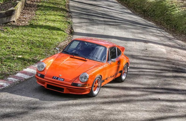 Martin Stretton and his Porsche takes on the hill at Shelsley Walsh Hill Climb