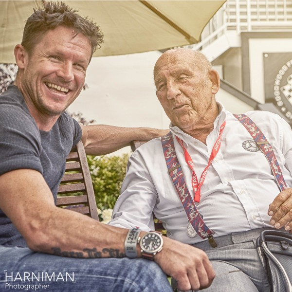 Felix Baumgartner & Sir Stirling Moss chatting at FOS Goodwood 2015