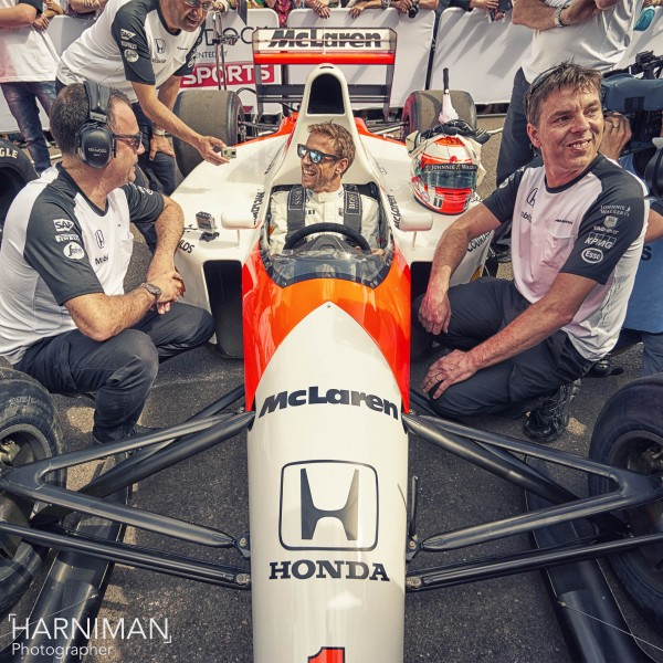 Jenson Button McLaren Honda at FOS Goodwood 2015