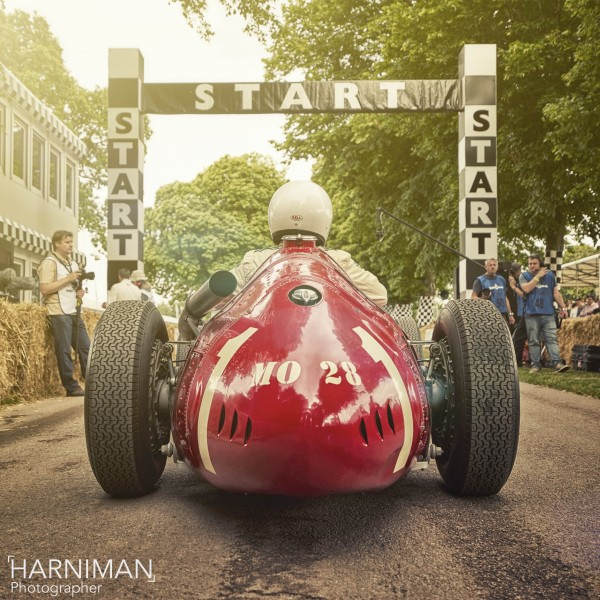 Maserati 250F on the startline at FOS Goodwood