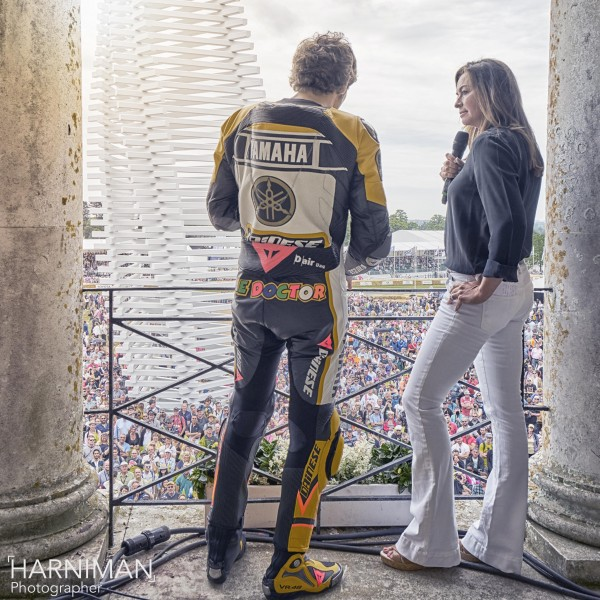 Valentino Rossi Suzi Perry FOS Goodwood 2015