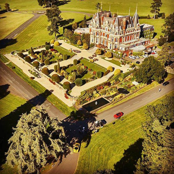 Chateau Impney from the aerial drone