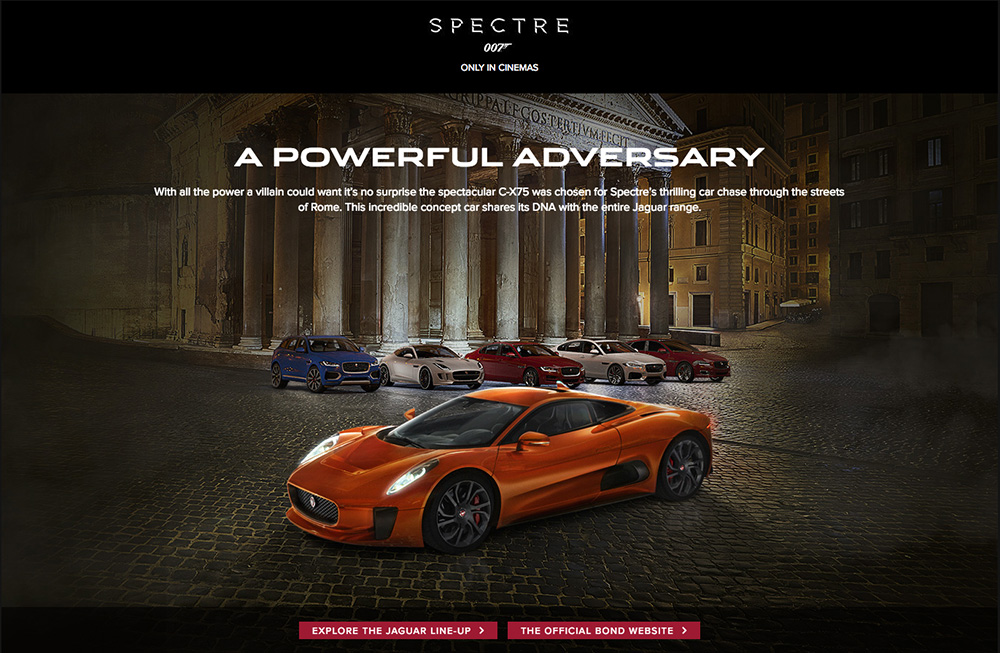 James Bond SPECTRE CX-75 shoot – when in Rome…