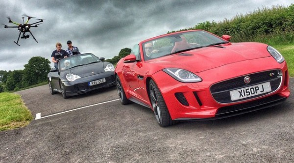 Jaguar F-Type video filming BTS