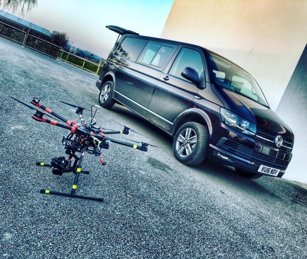 Behind The Scenes - the DJI S900 & VW grip van