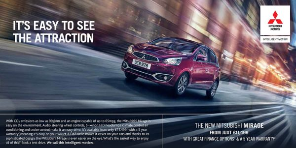 Mitsubishi Mirage press ad - Harniman