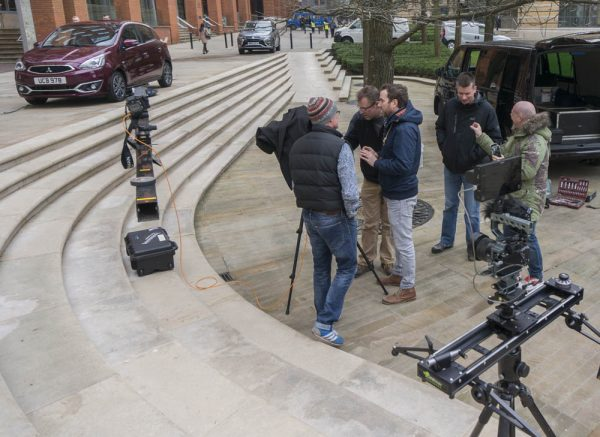 Set up for the Mirage press ad