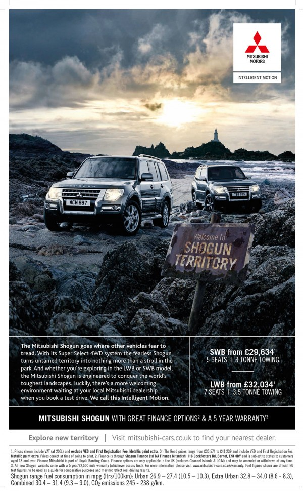 Welcome to Shogun Territory - press ad example