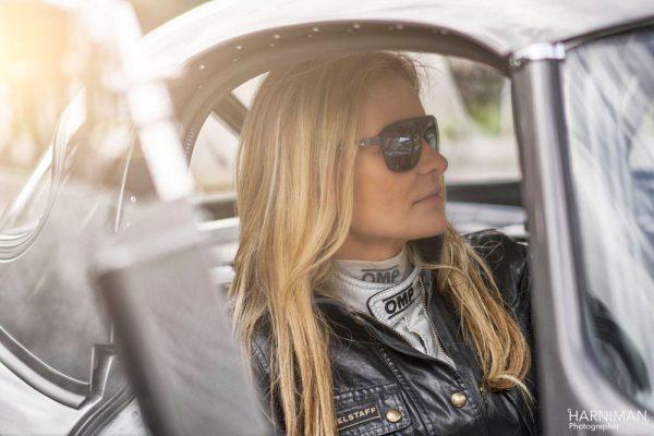 Katarina Kyvalova and the Jaguar E-Type Lightweight