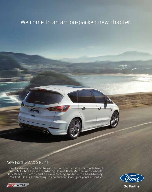 FORD NEW S-MAX ST-LINE rear 3/4 single page execution