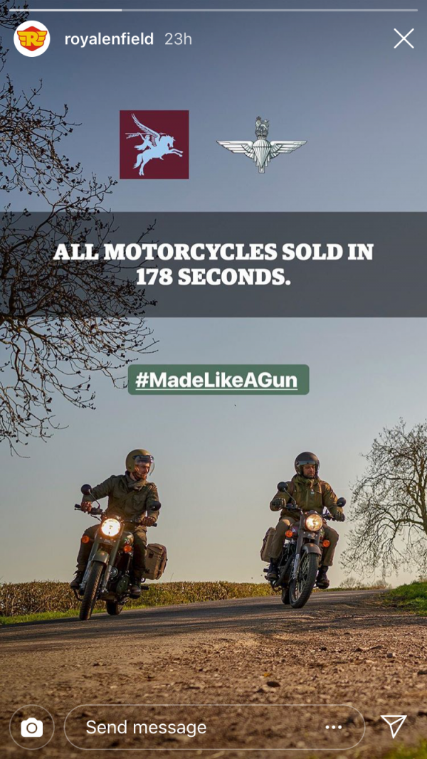 Gone in 178 seconds Harniman Royal Enfield